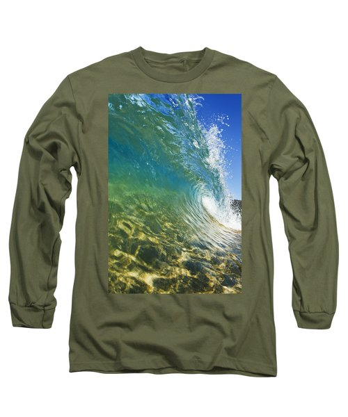 Wave - Makena Long Sleeve T-Shirt by MakenaStockMedia