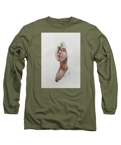 Wc Mini Portrait 7             Long Sleeve T-Shirt by Becky Kim