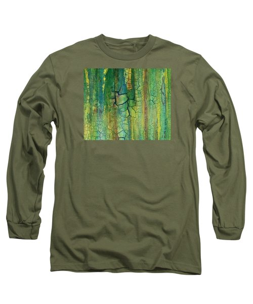 Weathered Moss Long Sleeve T-Shirt by Alan Casadei