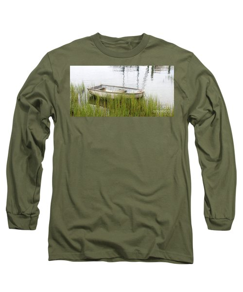 Weathered Old Skiff - The Outer Banks Of North Carolina Long Sleeve T-Shirt