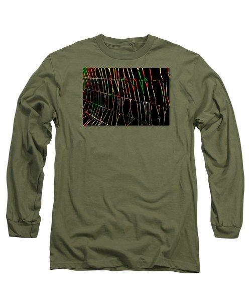 Web Long Sleeve T-Shirt by Don Gradner