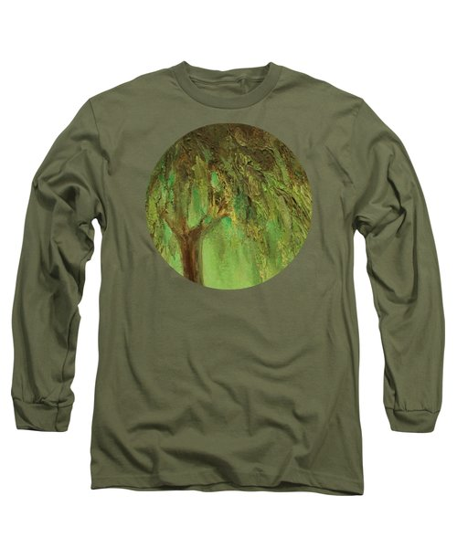 Weeping Willow Long Sleeve T-Shirt by Mary Wolf
