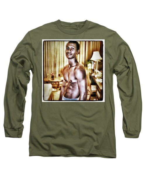 Long Sleeve T-Shirt featuring the photograph Weerawat. We For Short. A Kickboxer And by Mr Photojimsf