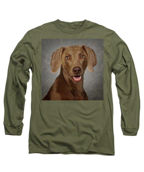 Weimaraner Long Sleeve T-Shirt by Greg Mimbs