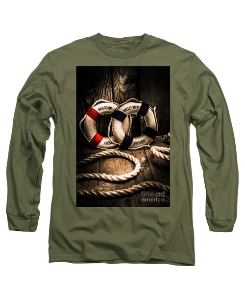 Welcome Aboard The Dark Cruise Line Long Sleeve T-Shirt