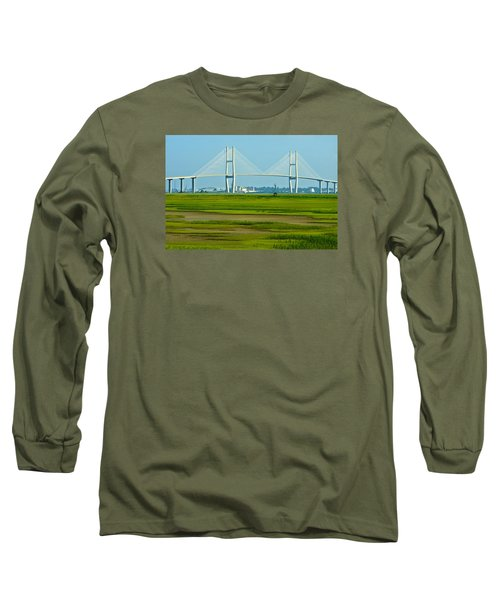 Long Sleeve T-Shirt featuring the photograph Welcome To Brunswick by Laura Ragland