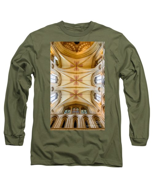 Wells Cathedral Ceiling Long Sleeve T-Shirt by Colin Rayner