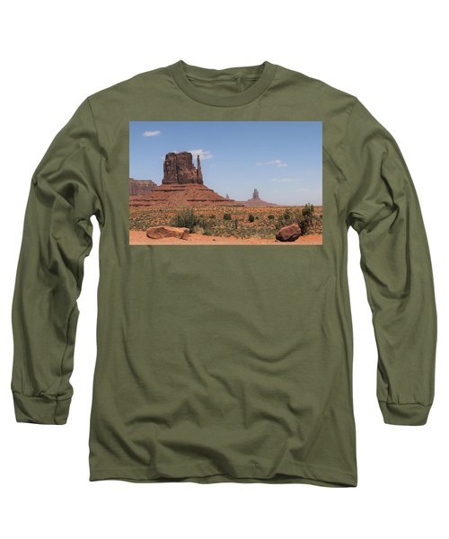 West Mitten Butte Monument Valley Long Sleeve T-Shirt
