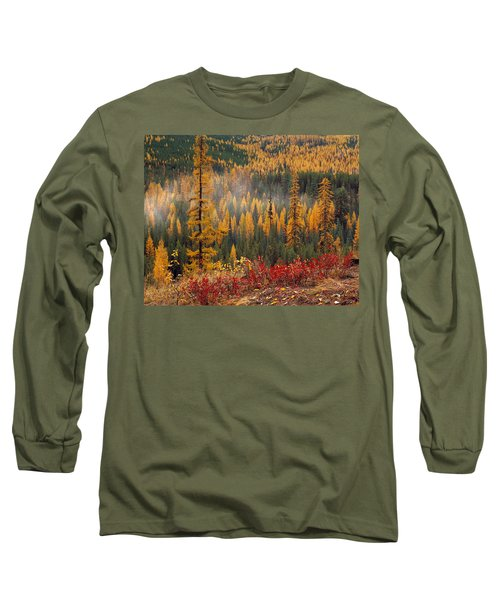 Western Larch Forest Autumn Long Sleeve T-Shirt