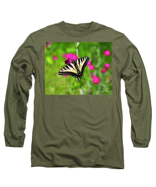 Western Tiger Swallowtail Butterfly Long Sleeve T-Shirt