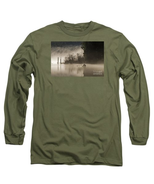 Long Sleeve T-Shirt featuring the photograph Westwood Lake by Inge Riis McDonald