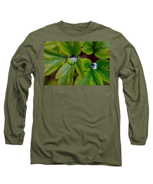 Wet Bleeding Heart Leaves Long Sleeve T-Shirt