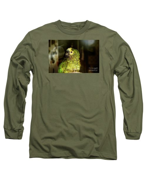 Long Sleeve T-Shirt featuring the photograph Wet Parrot by Melissa Messick