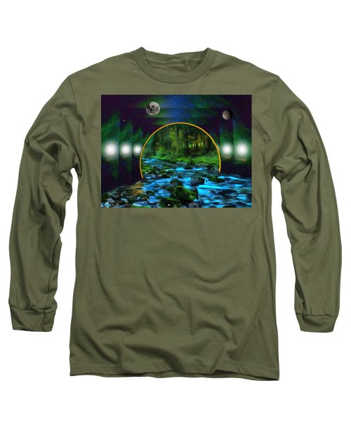 Whare Peaceful Waters Flow Long Sleeve T-Shirt