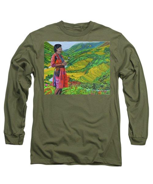 What If Long Sleeve T-Shirt by Thu Nguyen