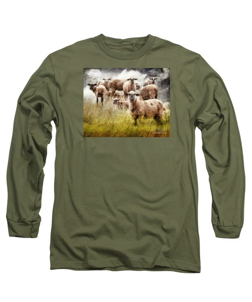 What You Lookin' At? Long Sleeve T-Shirt by Rhonda Strickland