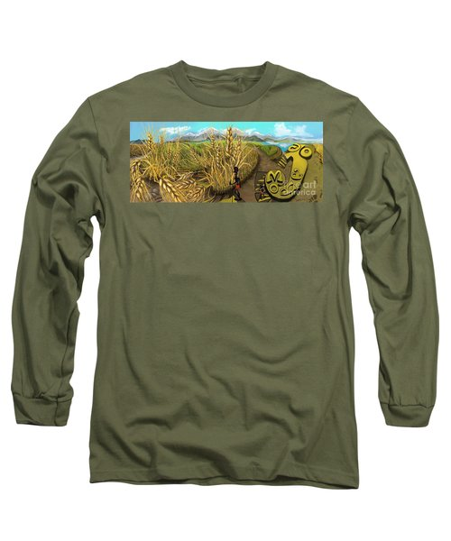 Wheat Field Day Dreaming Long Sleeve T-Shirt