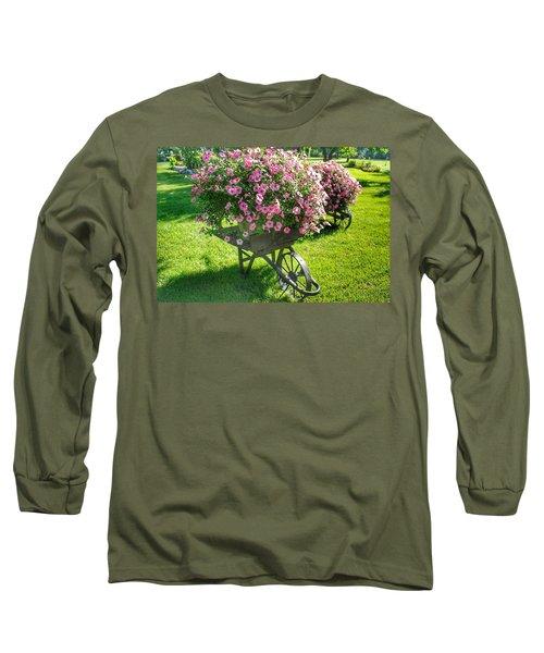 2004 - Wheel Barrow Full Of Flowers Long Sleeve T-Shirt