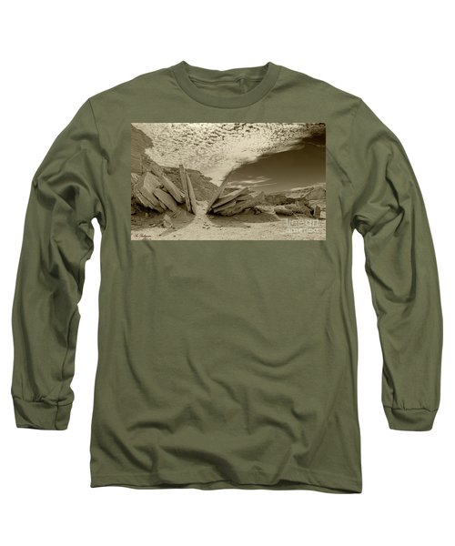 Long Sleeve T-Shirt featuring the photograph When God Cuts Slices..... by Arik Baltinester