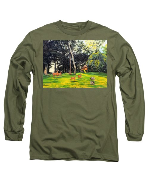 Long Sleeve T-Shirt featuring the painting When World's Collide by Kevin F Heuman
