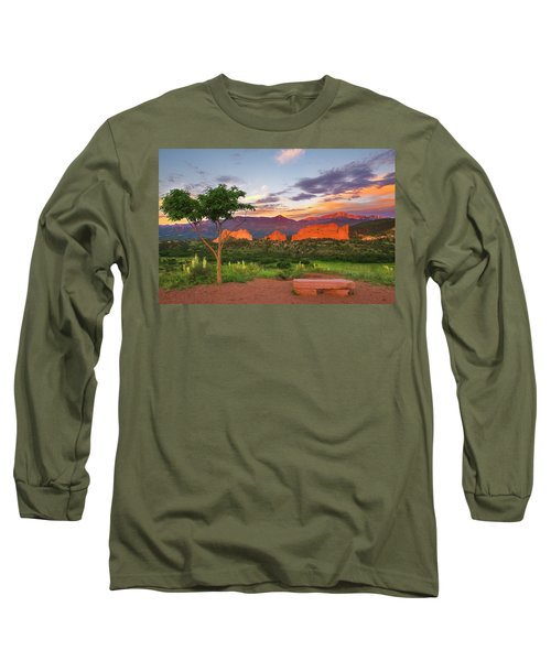 Where Beauty Overwhelms Long Sleeve T-Shirt by Tim Reaves