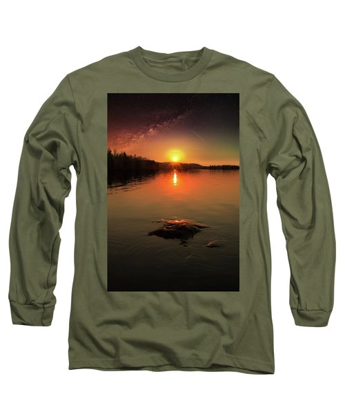 Where Heaven Touches The Earth Long Sleeve T-Shirt by Rose-Marie Karlsen