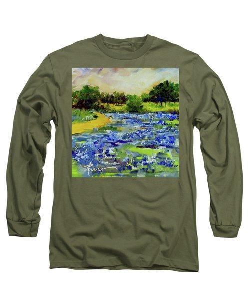 Where The Beautiful Bluebonnets Grow Long Sleeve T-Shirt