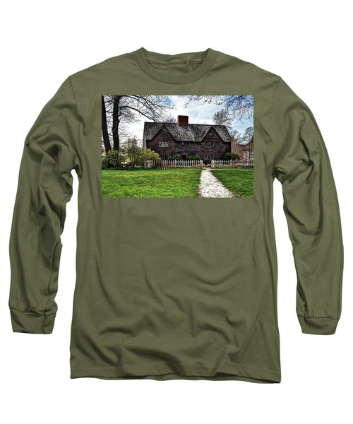 Long Sleeve T-Shirt featuring the photograph The John Whipple House In Ipswich by Wayne Marshall Chase