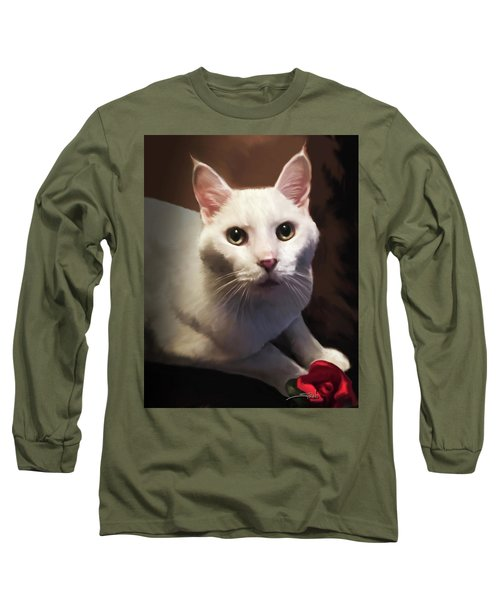 Whiskers And Rose Long Sleeve T-Shirt