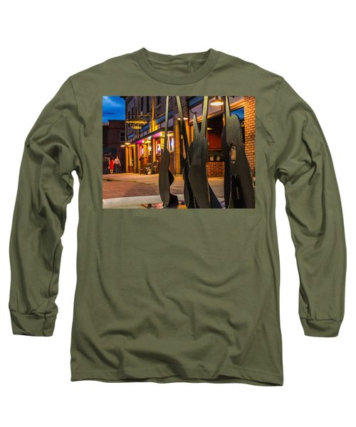 Whiskerz And Guitar Icons Long Sleeve T-Shirt