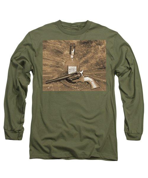 Whiskey And A Gun Long Sleeve T-Shirt