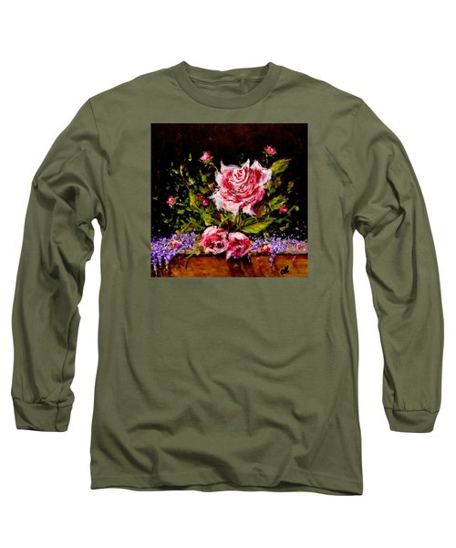 Long Sleeve T-Shirt featuring the painting Whispers Of Love.. by Cristina Mihailescu