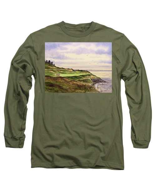 Long Sleeve T-Shirt featuring the painting Whistling Straits Golf Course Hole 7 by Bill Holkham