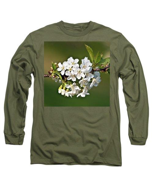White Apple Blossoms Long Sleeve T-Shirt