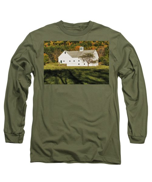 White Barn In Color Long Sleeve T-Shirt