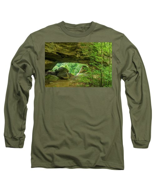 White Branch Arch Long Sleeve T-Shirt