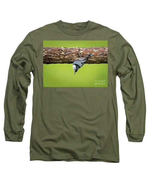 Long Sleeve T-Shirt featuring the photograph White-breasted Nuthatches by Ricky L Jones