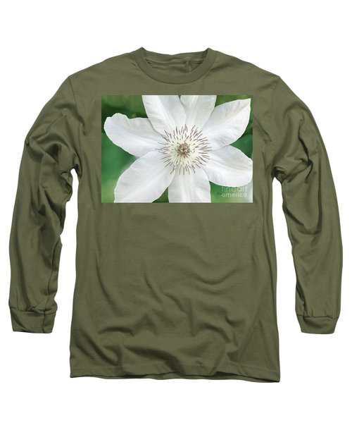 White Clematis Flower Garden 50121 Long Sleeve T-Shirt