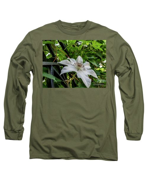 White Clematis Flower Garden 50129 Long Sleeve T-Shirt