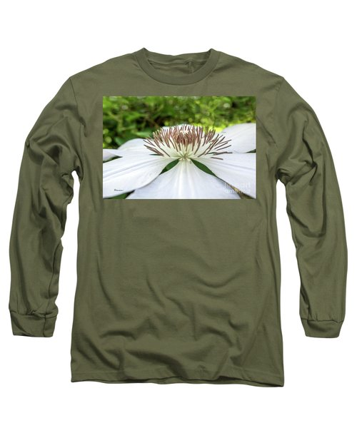 White Clematis Flower Garden 50146 Long Sleeve T-Shirt
