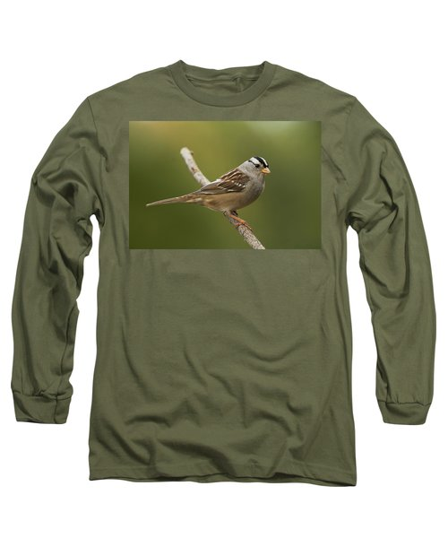 White-crowned Sparrow Long Sleeve T-Shirt by Doug Herr