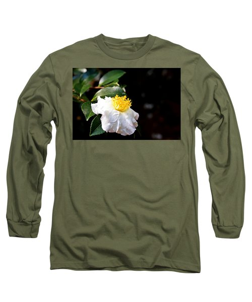 White Flower-so Silky And White Long Sleeve T-Shirt