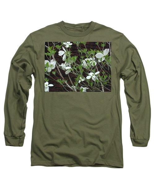 White Flowering Dogwood Long Sleeve T-Shirt