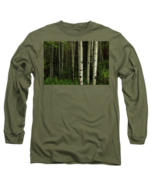 Long Sleeve T-Shirt featuring the photograph White Forest by James BO Insogna