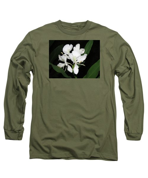 Long Sleeve T-Shirt featuring the photograph White Ginger by Phyllis Beiser