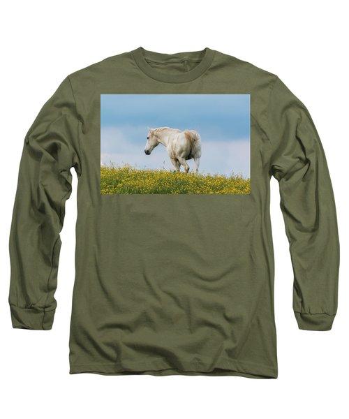 White Horse Of Cataloochee Ranch - May 30 2017 Long Sleeve T-Shirt