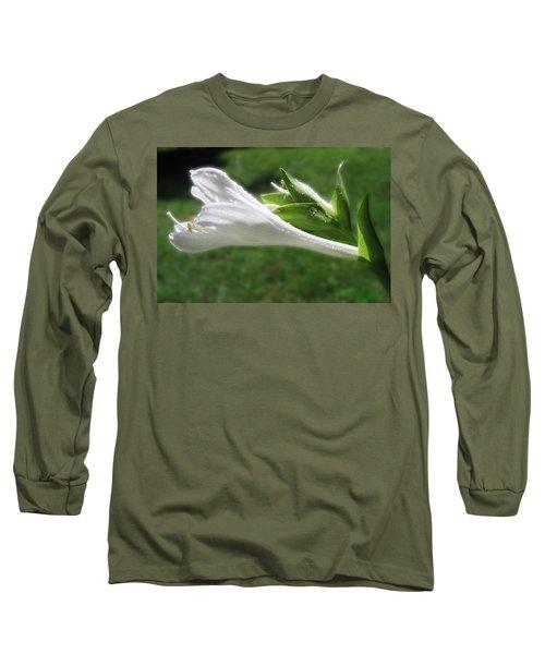 Long Sleeve T-Shirt featuring the photograph White Hosta Flower 46 by Maciek Froncisz