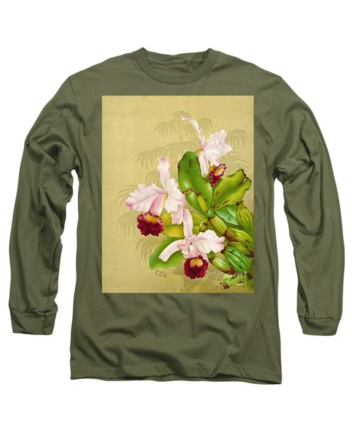 White House Orchid 1892 Long Sleeve T-Shirt by Padre Art