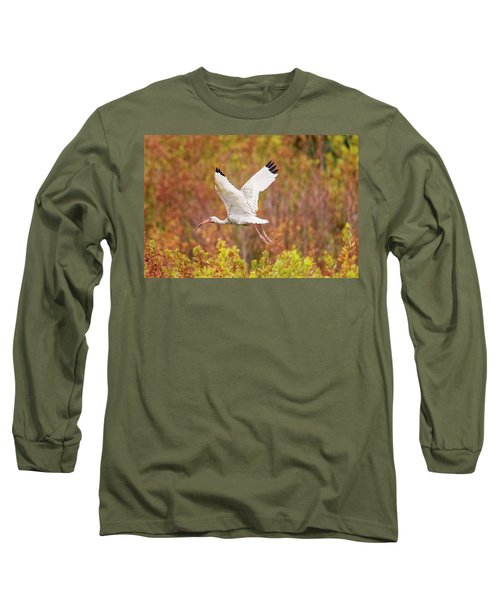 White Ibis In Hilton Head Island Long Sleeve T-Shirt