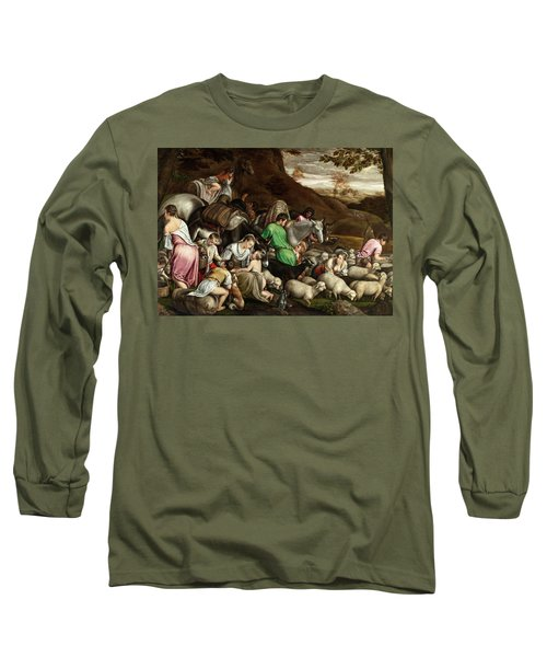Long Sleeve T-Shirt featuring the photograph White Lambs by Munir Alawi